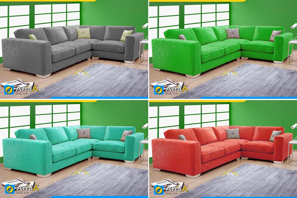 Nhiều màu sắc khác nhau cho bạn lựa chọn đối với mẫu sofa góc L đẹp hiện đại giá rẻ này
