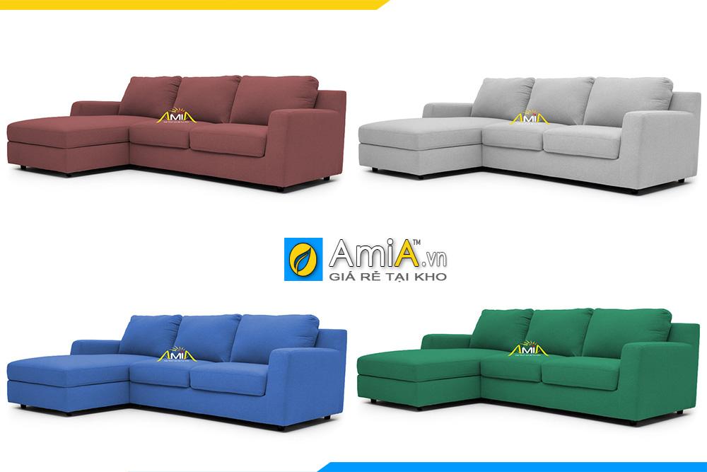 Sofa góc đẹp phòng khách với nhiều màu sắc